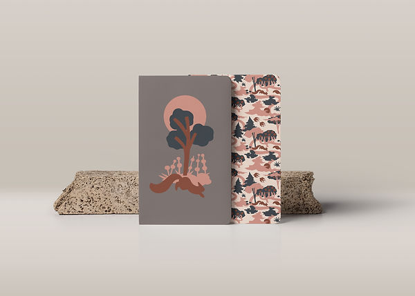 notebooks pattern design minimalist simple vector illustration cute nature beige pink brown