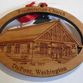 Presbyterian Church Ornament