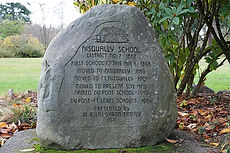 Nisqually School Monument in Iafrati Par