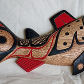 Wooden Salmon Wall Hanging
