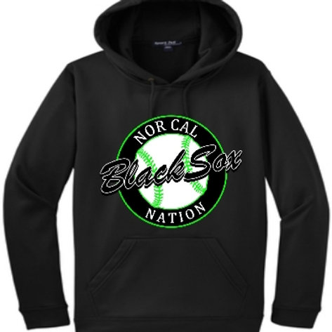 Adult Black Cotton Hoodie