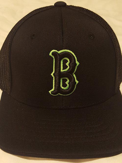 Flex Fit Cap Black/Black (B Logo)