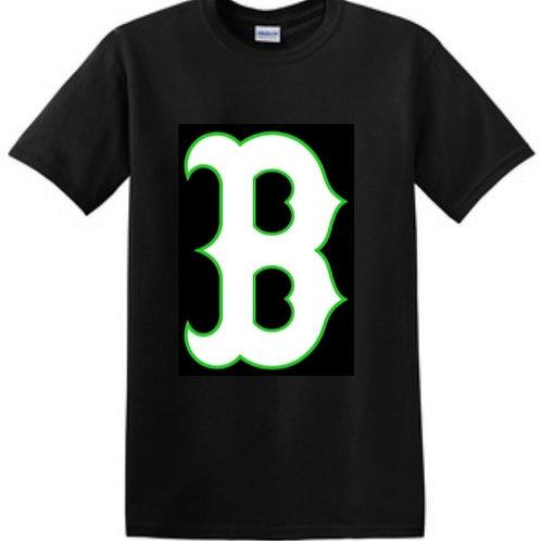 Black Cotton T-Shirt (B Logo)