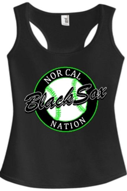 Ladies Black Tank Top (Circle Logo)