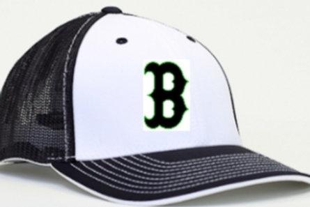 Flex Fit Cap White/Black (B Logo)