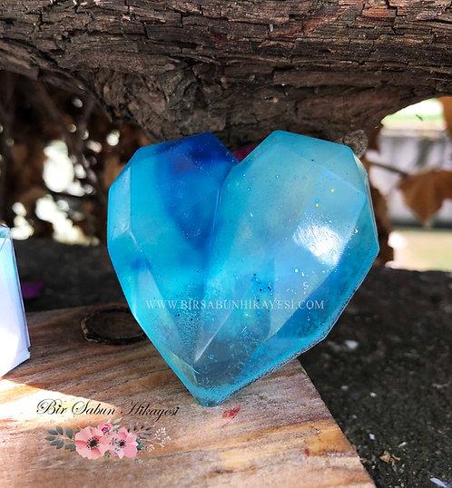 3D Cristal Blue Heart