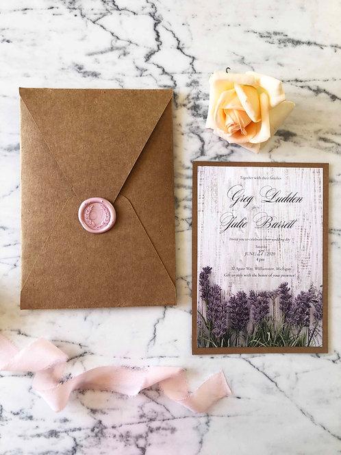 Julie Rustic Wedding Invitation