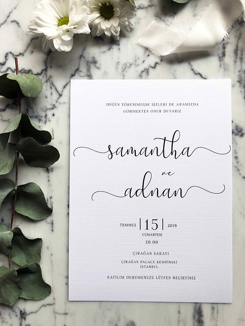 Samantha Modern Vellum Wedding Invitation