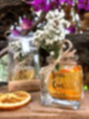 Orange Candle Wedding Favours