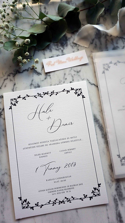 Hale Natural Vellum Wedding Invitation