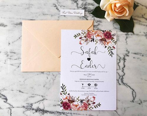 Safak Romantic Wedding Invitation Suite