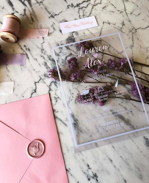 Louren Acrylic Wedding Invitation