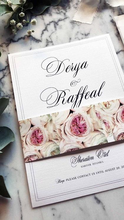 Raffeal Floral Vellum Wedding Invitation
