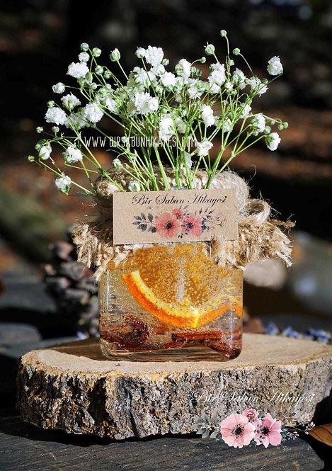 Mandarin&Cinnamon Gel Candle