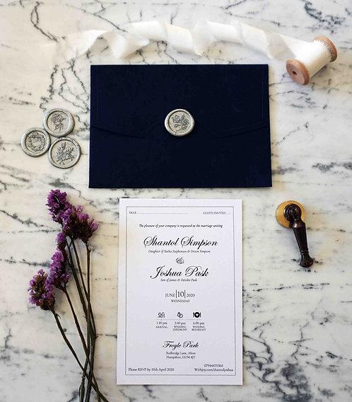 Shantol Wedding Invitation Suite