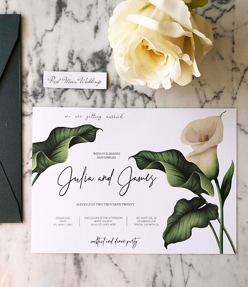 Julia Floral Wedding Invitations