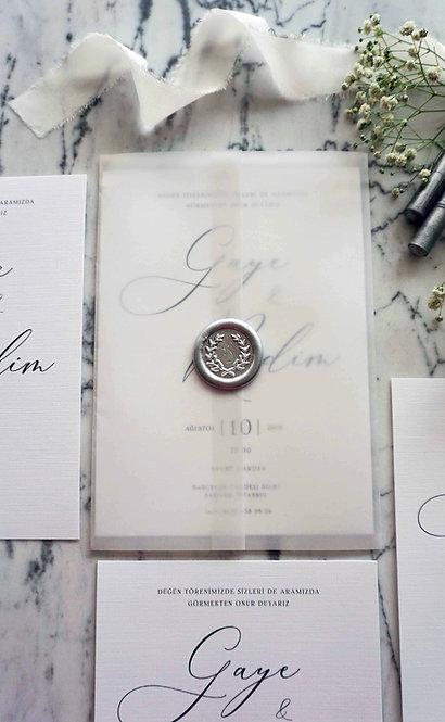 Gaye Vellum Wedding Invitations