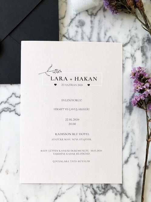Lara Classic Wedding Invitation