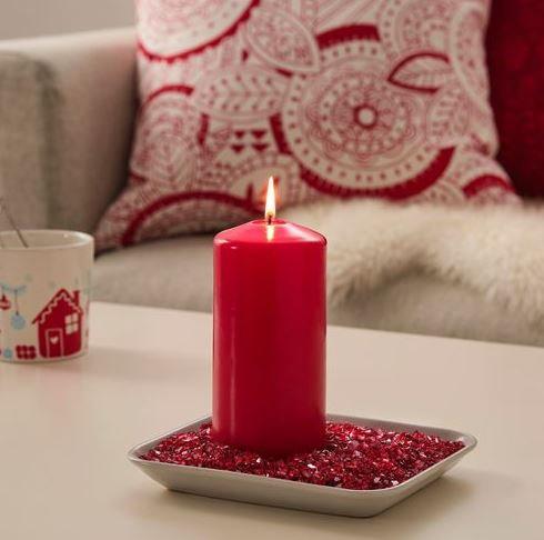 Kırmızı Dekoratif Cam Granül