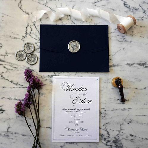 Handan Luxury Classic Wedding Invitation