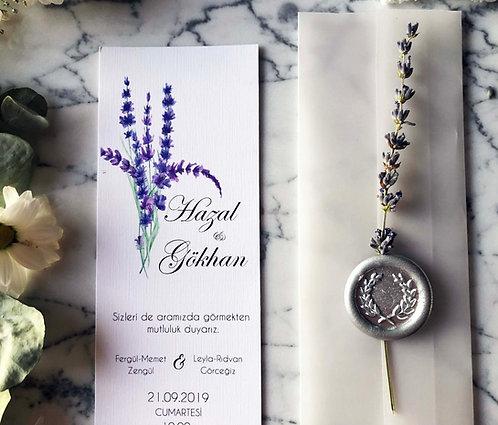 Hazal Lavender Bookmark Vellum Wedding Invitation