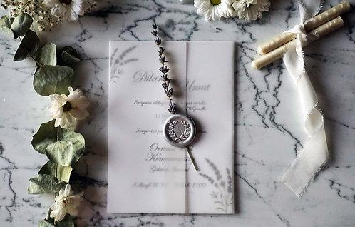 Dilara Lavender Vellum Invitation