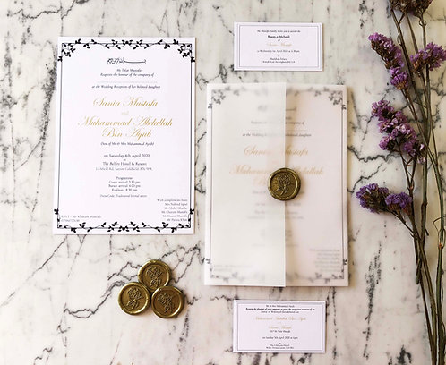 Sonia Vellum Wedding Invitation