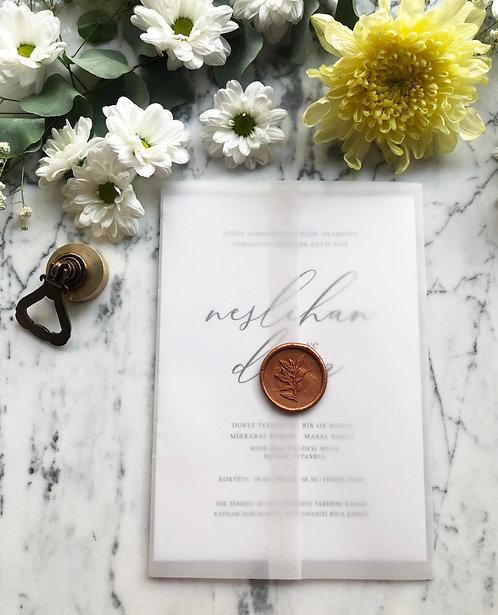 Neslihan Vellum Wedding Invitations