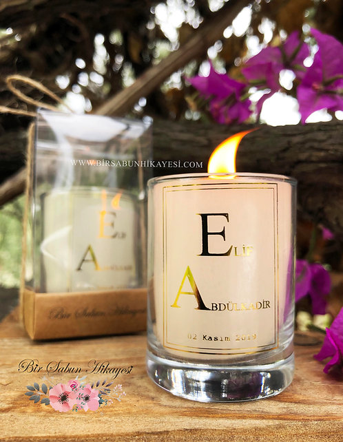 Luxury Gold Foil Vanilia Candle