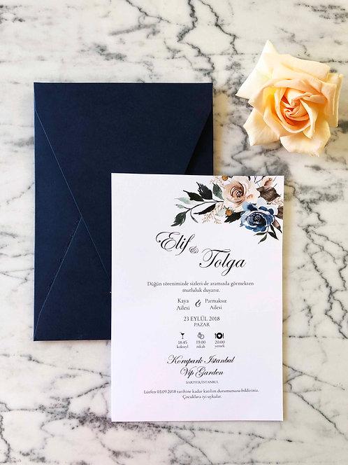 Elif Luxury Classic Wedding Invitation