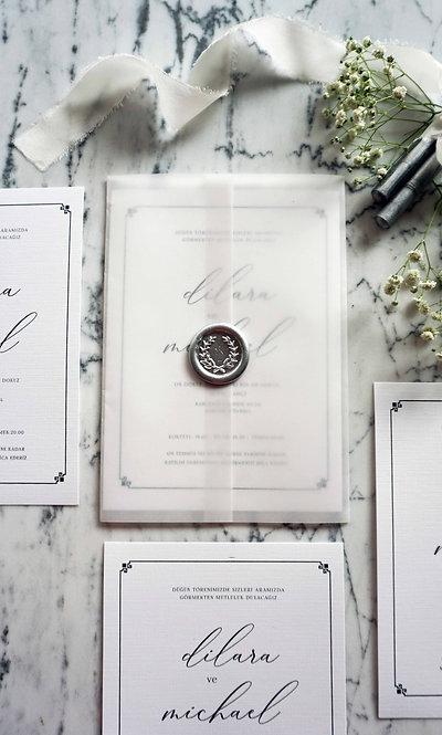 Micheal Vellum Wedding Invitations