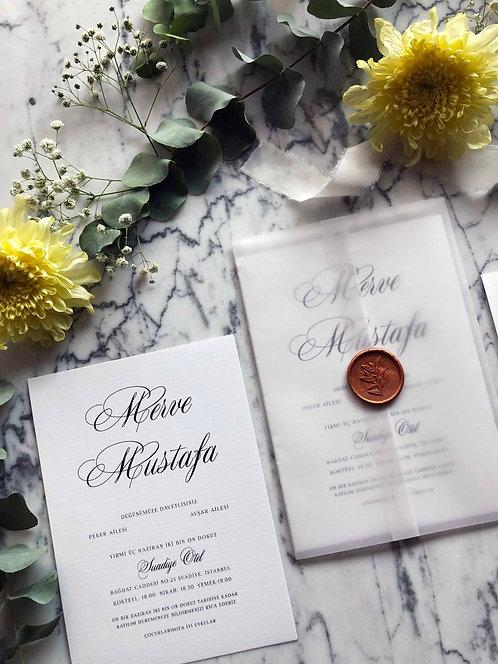 Merve Vellum Wedding Invitations