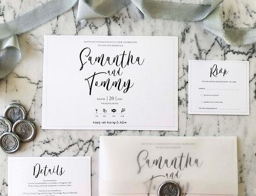 Tommy Vellum Wedding Invitation