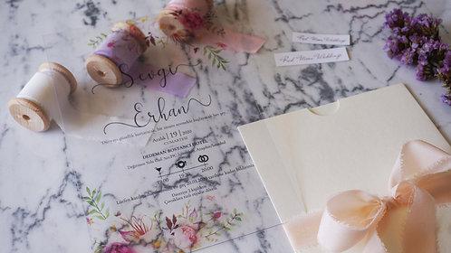 Sevgi Acrylic Wedding Invitation