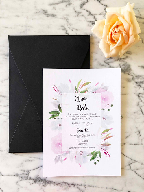 Merve Classic Wedding Invitation