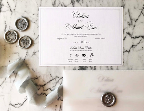 Dilara Vellum Wedding Invitations