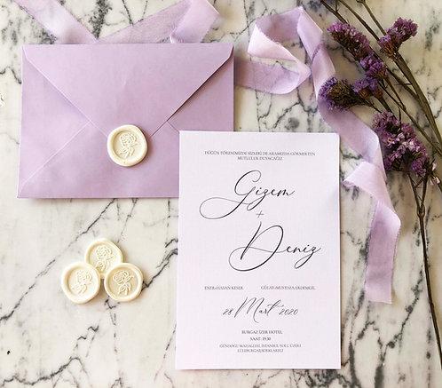 Gizem Romantic Classic Wedding Invitation