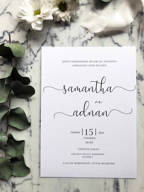 Samantha Vellum Wedding Invitations