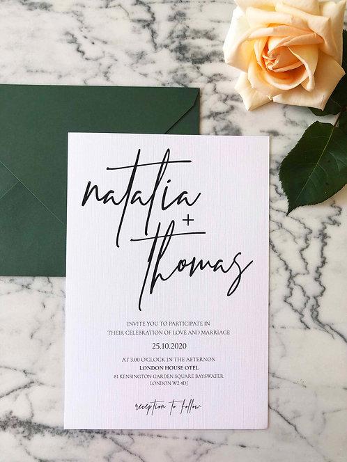 Thomas Luxury Wedding Invitation Suite