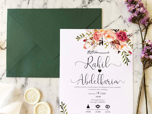 Rahil Wedding Invitation Suite