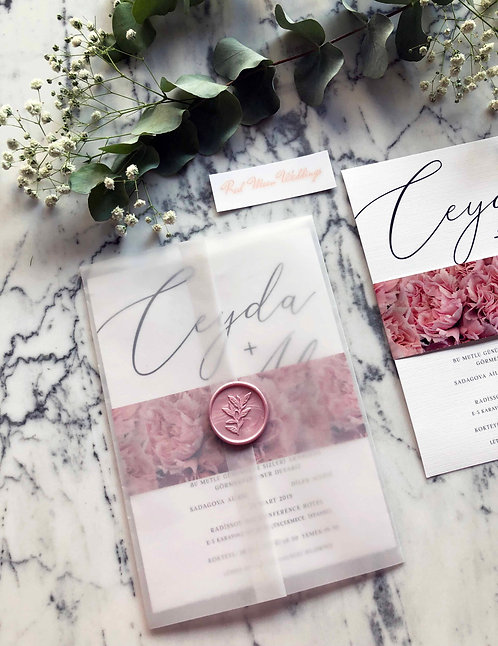 Ceyda Floral Wedding Invitations