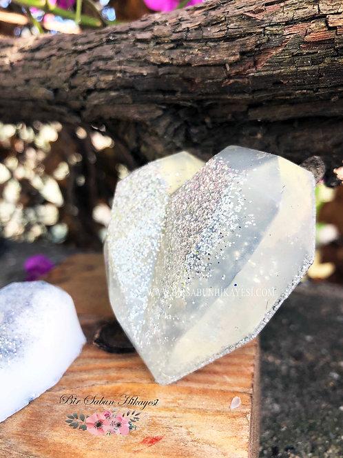 3D Cristal White Heart