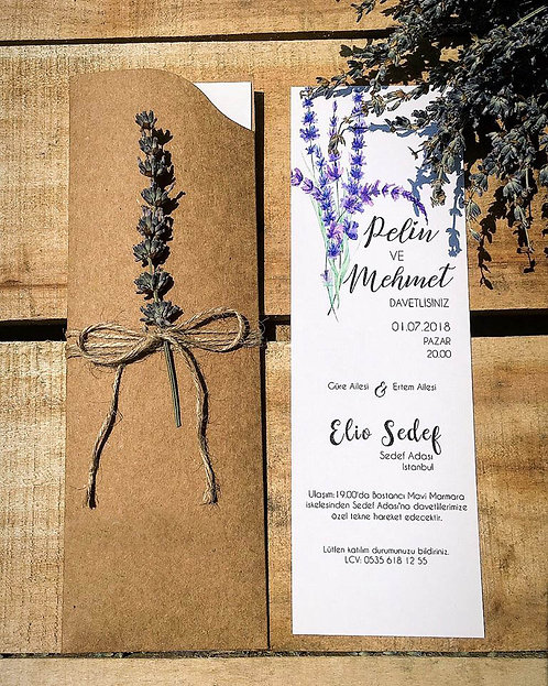 Pelin Romantic Rustic Wedding Invitation