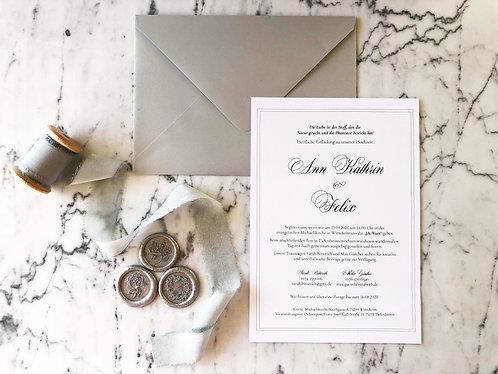 Ann Kathrin Elegant Wedding Invitation