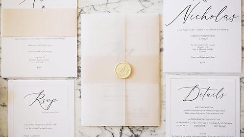 Alice Vellum Wedding Invitations