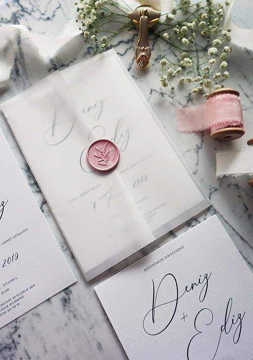 Ediz Elegant Wedding Invitation