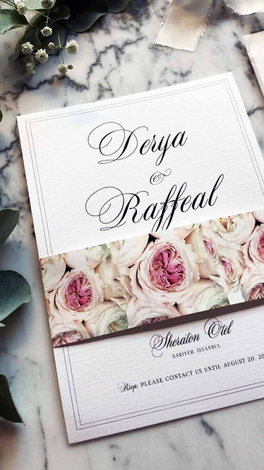 Derya Floral Wedding Invitations