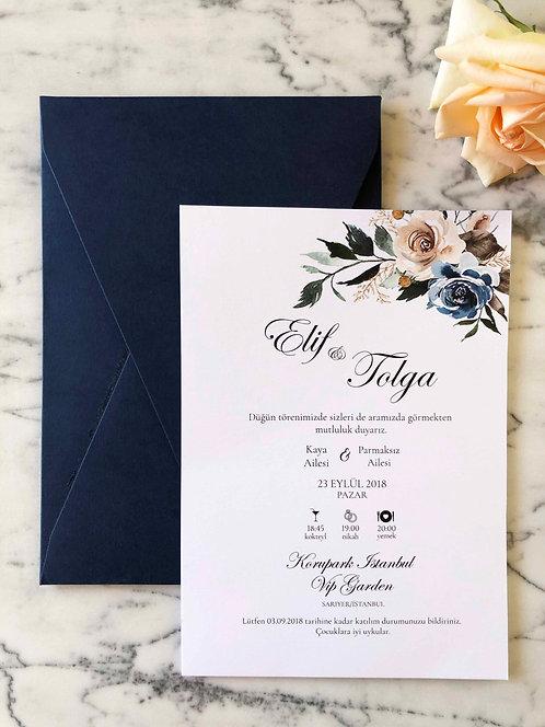 Elif Elegant Wedding Invitation Suite