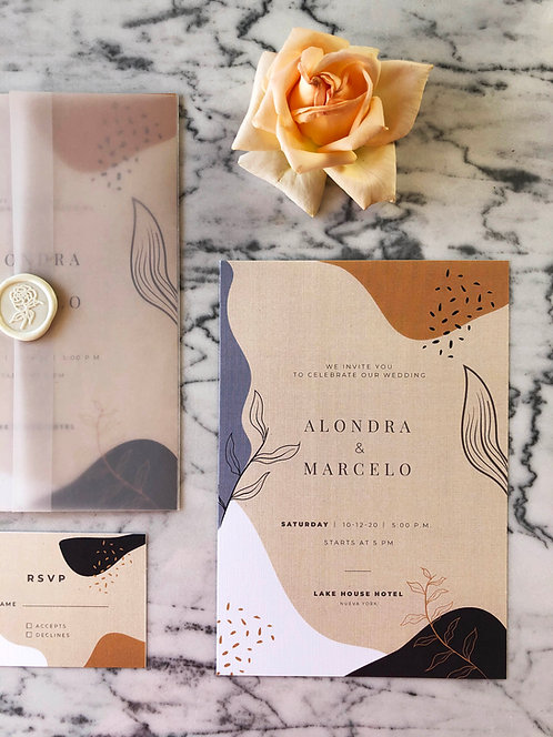 Alondra Vellum Wedding Invitation