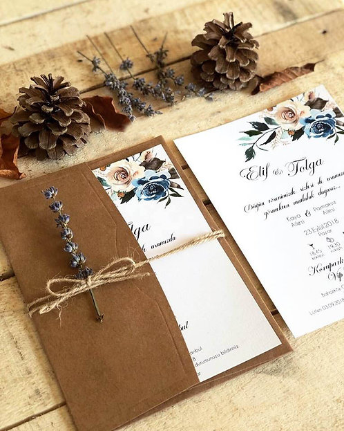 Elif Rustic Wedding Invitation